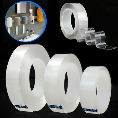 Magic Double-sided Tape Traceless Washable Adhesive Clear Nano Invisible Gel US