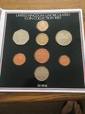 1983 UK Royal Mint Uncirculated coin collection set.