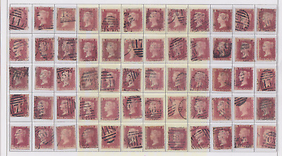 plate-184 SG43 Penny Red GB Victorian postage stamp