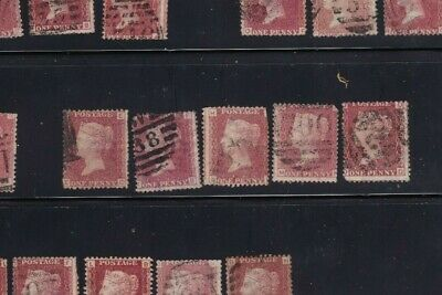 plate-183 SG43 Penny Red GB Victorian postage stamp