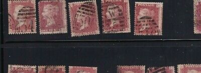 plate-180 SG43 Penny Red GB Victorian postage stamp