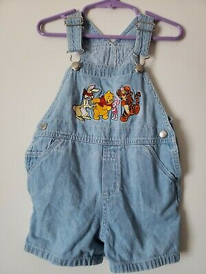 Toddler Overalls Girl Boy Infant Disney Store Winnie the Pooh Denim 18M 18 M