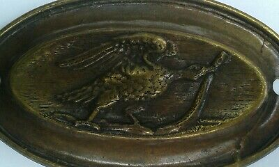 Decorative vintage 'furniture mount' in what is believed to be pressed Brass.I.