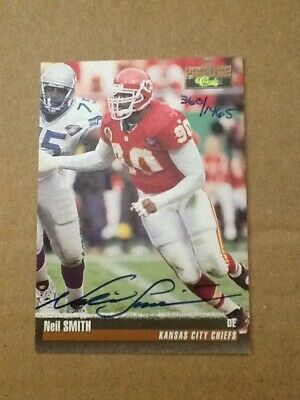 1995 Classic Pro Line auto hand signed card Neil Smith # /1465