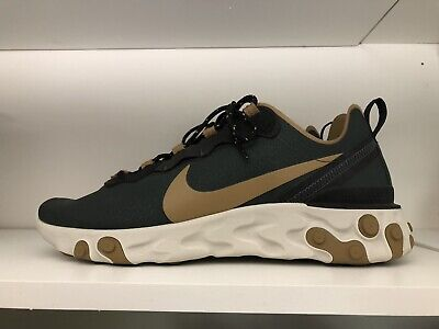 the latest ac0eb 6b4d6 NIKE REACT ELEMENT 55 Outdoor Green/Golden Beige BV6668-355 Size 11