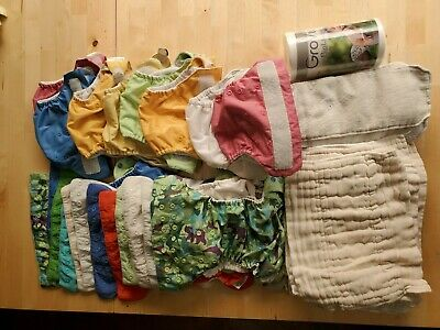 NWT $19.95 Bum genius freetime cloth diapers AIO and $21.95 prints solids