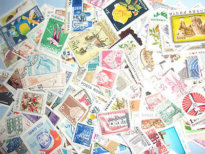 50 mixed vintage POSTAGE  STAMPS 1950's to 1990's grab bag