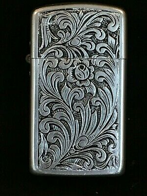 PARK CIGARETTE LIGHTER Vintage Embossed Aluminum Suralco Refinery