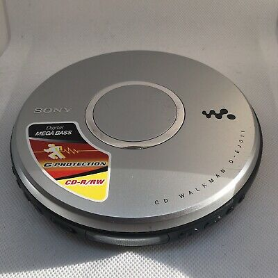 SONY Walkman D-EJ011 Silver Personal CD Player