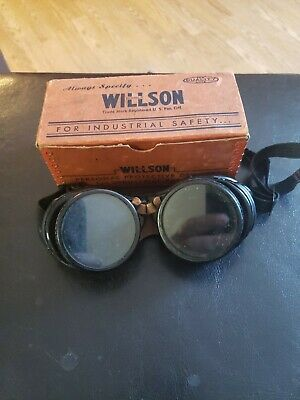 Vintage Willson Welding Goggles With Original Box