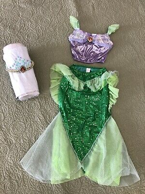 Authentic Disney World Little Mermaid Ariel Outfit With Crown