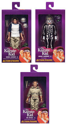 "NECA The Karate Kid SET LARUSSO LAWRENCE MIYAGI  8""clothed Action Figure NEW"