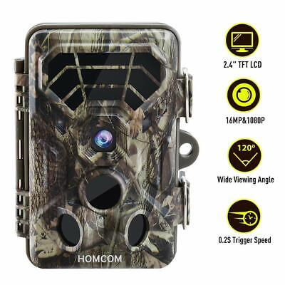 1080p 16MP Hunting Trail Wildlife Scouting Game Camera Night Vision 0.2s Trigger