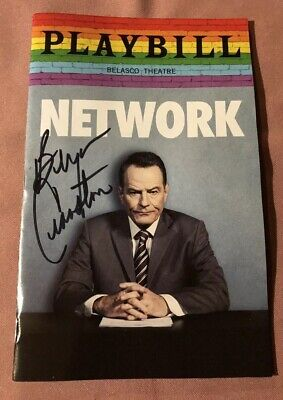 NETWORK Playbill Broadway Bryan Cranston PRIDE Autographed Signed