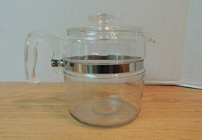 Vintage 4-6 Cup Percolator Glass Stove Coffee Maker Pyrex 7756-CK - 5 POT ONLY