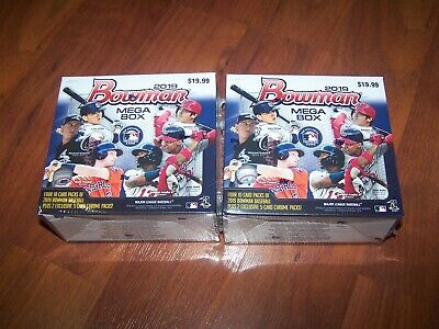 (2) 2019 Bowman Baseball FACTORY SEALED Mega Boxes from Target!