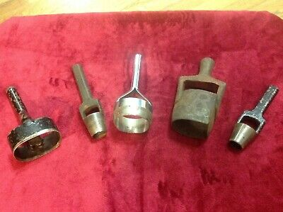 Lot Of 5 Leather Stamp Cutter Kraeuter, Baron Tool, C. S. Osborne