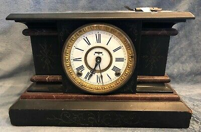 Antique Reverie Mantle Clock- The E. Ingraham Company