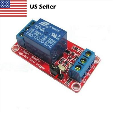 Great 12V 1 channel relay module optocoupler High and low level trig lfTPAU