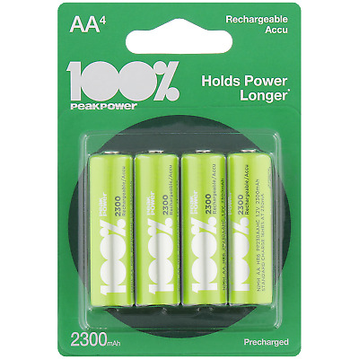 4 piles rechargeables BATTERIES ACCU LR06 AA 2300 mAh Neuves accus
