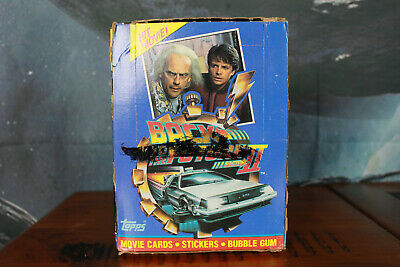 Back To The Future 2 Complete Box of 36 Packs Topps 1989