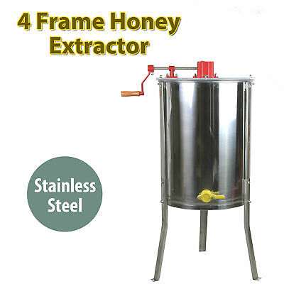 Honey Extractor Four 4 Frame Tangential Manual Crank Honey Spinner Beekeeping