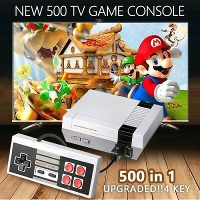 Retro Mini TV Handheld Family Recreation Video Game Console Built-in 500 Classic
