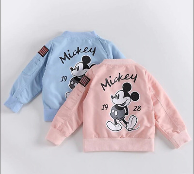Kids Coat Cartoon Mickey Baseball Jacket Girls Boys Outwear Toddler Baby Clothes