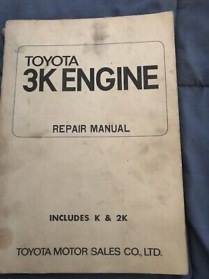 Factory Workshop Manual Repair Manual Toyota 3K engine 3 & 2K  Corolla