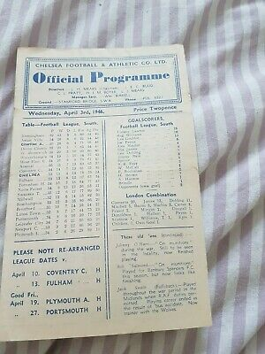 Chelsea v Charlton Athletic 03/04/1946