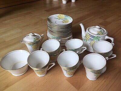 Vintage Bell Bone China Yellow Floral Tea Set 39 Pieces