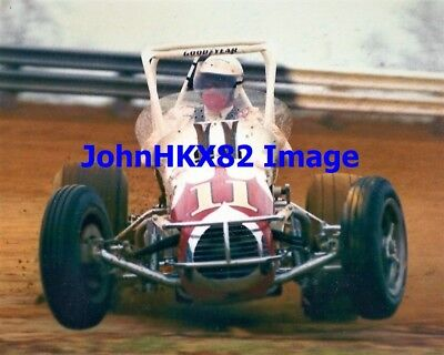 Rare Aj Foyt #11 Usac Sprint Car Color Photo-4 Indy 500 Wins-7X Indy Car Champ