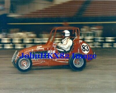 RARE AJ FOYT 8x10 COLOR PHOTO IN USAC GREER MIDGET #83 - 4 INDY 500 WINS- WOW