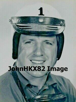 Rare Aj Foyt Indy 500 #1 B&W Photo-Now 4 Indy 500 Wins-7X Indy Car Champion