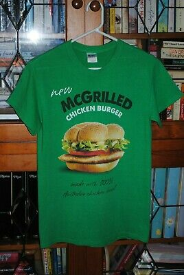 COLLECTABLE McDONALDS McGRILLED CHICKEN BURGER CREW T-SHIRT SMALL SIZE