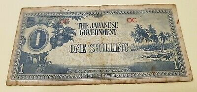 Japanese Occupation Money - One Shilling OC Oceania (c)