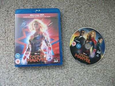 captain marvel 3d blu ray, no 2d blu ray disc included only 3d
