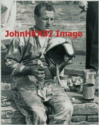 Rare Aj Foyt 1960 Langhorne Speedway Photo-4 Indy 500 Wins-7 Indy Car Champ