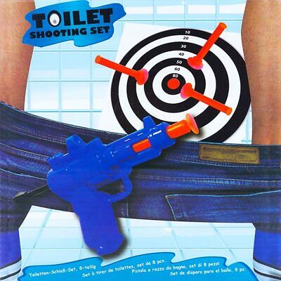 Toilet Shooting Set Game Fun Target Gun Funny Novelty Gift Secret Santa