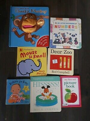 7 x Baby Books. Pop Ups, Picture, Number, Flap Books