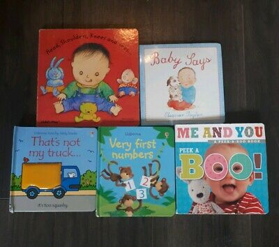 5 x Baby Books. Pop Ups, Picture, Number, Flap Books