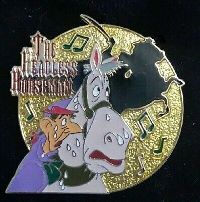 Disney The Legend of Sleepy Hollow The Headless Horseman Ichabod & Mr. Toad pin