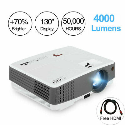 4000lm Mini Portable Projector Home Theater Party HDMI USB*2 PS4 Xbox Game Gift