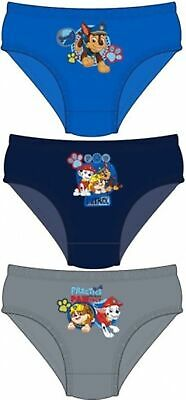 3 Pairs Boys PAW PATROL Character Pants Underwear Briefs Ages 2-5