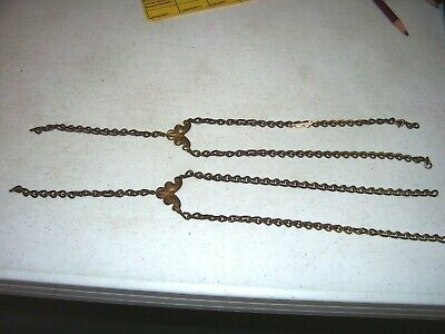 Antique Pr Side Chains And Separators From Hanging Library Oil Lamp