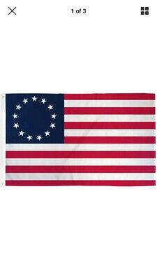 Betsy Ross 3x5 ft Poly Flag- 13 Stars 1776 American Colonial - Ready To Ship Now
