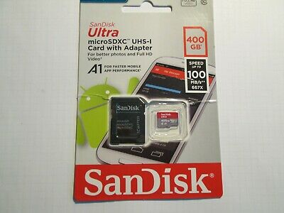San Disk Ultra micro SDXC UHS I 400GB Card mit Adapter