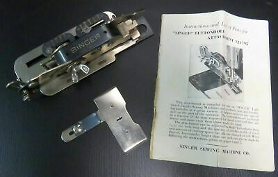 Vintage Singer Buttonhole Attachment Sewing Machine Parts #121795  19507