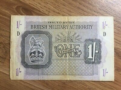British Military Authority one shilling banknote