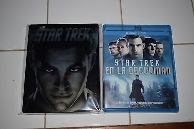 Star Trek Steelbook Blu Ray + Amaray Star Trek en la Oscuridad BD